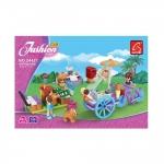 Игровой конструктор, Ausini, 24421, Мир Чудес, Передвижноекафе-мороженое, 140 деталей, Цветная коробка